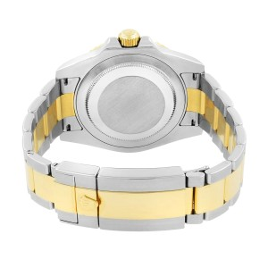 Rolex GMT-Master II Steel Gold Black Dial Ceramic Bezel Mens Watch 116713