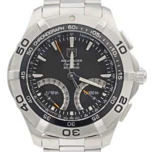 TAG Heuer Aquaracer Steel Black Multifunction Quartz Mens Watch CAF7010.BA0815