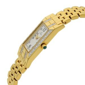 Bulova Diamond Accented Steel Gold Tone White Dial Quartz Ladies Watch 98W13