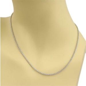 "Chopard 18k Yellow Gold 3.5mm Rolo Link Chain 16.75"" Long"