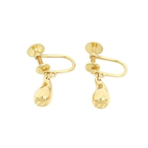 Tiffany & Co. Peretti 18kt Yellow Gold Teardrop Screw Back Dangle Earrings