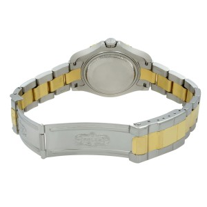 Rolex Yacht-Master 35mm 18K Yellow Gold Steel Champagne Dial Unisex Watch 168623