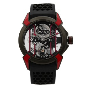 Jacob & Co. Epic X Skeleton Titanium Hand-Wind Mens Watch EX100.21.RR.PY.A