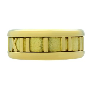Tiffany & Co. 18k Yellow Gold 1995 Atlas Collection Ring Size 4.5