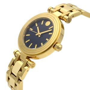 Tory Burch Classic T Gold Tone Steel Blue Dial Quartz Ladies Watch TBW9004