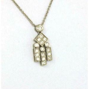 Tiffany & Co. Legacy Collection Diamonds & Platinum Pendant Necklace w/Box