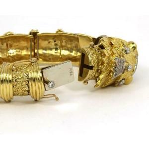 Stunning 1.85ct Diamonds & Ruby Large Dragon Head Bracelet in 18k Yellow Gold