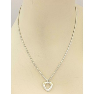 Tiffany & Co. 18k & Sterling Silver Open heart Snake Chain Necklace