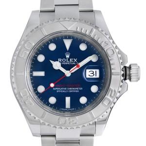 Rolex Yacht-Master 40mm Steel Platinum Blue Dial Oyster Mens Watch 116622