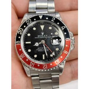 Rolex GMT-Master II Fat Lady Coke Steel Black Dial Automatic Mens Watch 16760