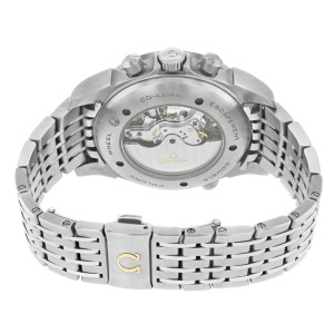 Omega DeVille Rattrapante Chronoscape Grey Dial Steel Watch 422.10.44.51.06.001
