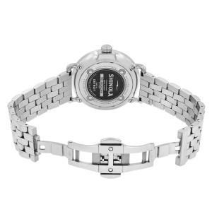 Shinola Runwell Stainless Steel White Arabic Dial Quartz Men's Watch 10000054
