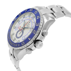 Rolex Yacht-Master II Command Bezel White Dial Steel Automatic Mens Watch 116680