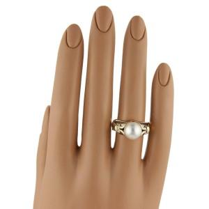 Bulgari Bvlgari 18k Yellow & White Gold 9.5mm Akoya Pearl Ring
