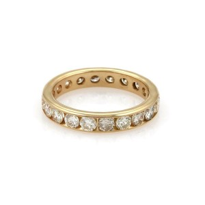 14k Yellow Gold 2.40 Carats Diamond Channel Set Wedding Band Ring Size - 7