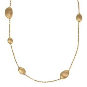 Marco Bicego Africa 18k Yellow Gold Assorted Size Bead Motif Long Necklace