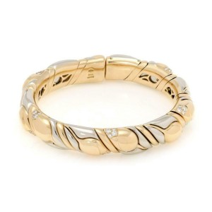 Bvlgari Bulgari Diamond 18k Two Tone Gold Fancy Flex Bracelet