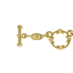 6 Judith Ripka 1.00ct Diamond 18k Yellow Gold Circle Link Necklace
