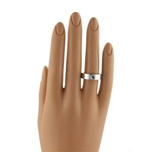 Cartier Love 1 Black Diamond 18k White Gold 5.5mm Band Ring Size 49-US 5