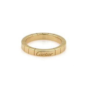 Cartier Lanieres 18k Yellow Gold 3mm Wide Band Ring Size 51-US 5.75 w/Cert