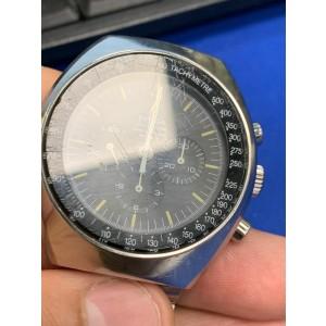 Omega Speedmaster Mark II Steel Black Dial Hand Wind Mens Vintage Watch 145.014