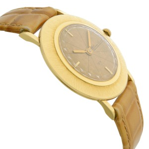 Vintage Lucien Piccard 18k Yellow Gold Manual Wind Mens Watch