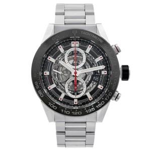 Tag Heuer Carrera Skeleton Steel Ceramic Automatic Mens Watch CAR2A1W.BA0703
