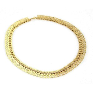 Vintage Fancy Open Floral Drape 18k Yellow Gold Necklace