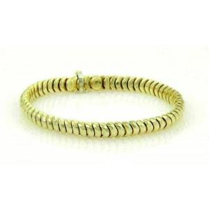 Henry Dunay Hammered Facets 18k Yellow Gold Curve Link Bracelet