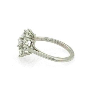 Tiffany & Co. Diamond Platinum Floral Ring