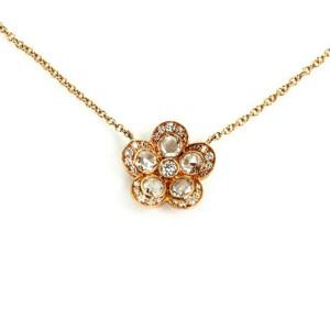 Tiffany & Co. Enchant Garden Flower Diamond 18k Rose Gold Pendant Necklace