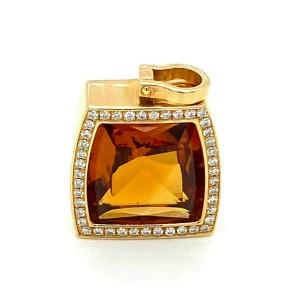 Cartier La Dona Diamond & Citrine 18k Yellow Gold Pendant w/Cert.