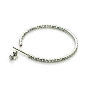 Roberto Coin 1.10ct Inside Out Diamond 18k White Gold Hook Earrings
