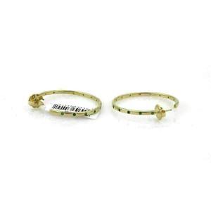Ippolita Glamazon Stardust Tsavorite 18k Gold Hoop Earrings Rt. $3,495