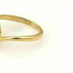 Cartier Diamond Heart 18 Yellow Gold Ring Size 50