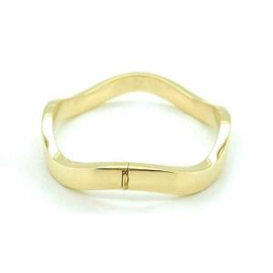 Tiffany & Co. 18k Yellow Gold Wave Bangle Bracelet