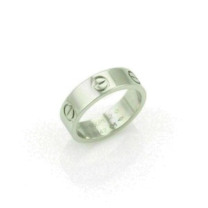 Cartier Love Platinum 5.5mm Band Ring Size 52 US 6