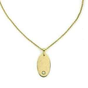Di Modolo Falco Diamond 18k Yellow Gold Oval Pendant