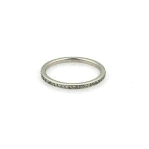 Tacori Diamond 18k White Gold 1.5mm Band Ring