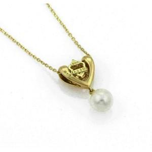 Mikimoto Diamond Akoya Pearl 18k Yellow Gold Fancy Pendant