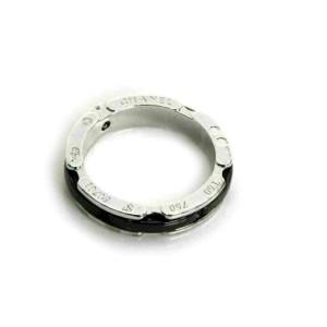 Chanel Ultra Diamond 18k White Gold & Black Ceramic Band Ring Rt. $4,600