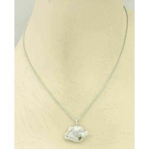Carrera y Carrera Passion 18k White Gold Erotic Couple Pendant Necklace