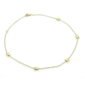Cartier 5 Tulip Charms 18k Rose Gold Chain Necklace