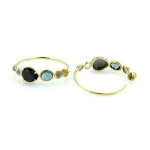 Ippolita Rock Candy Gelato 18k Yellow Gold Gem Hoop Earrings Rt. $2,995