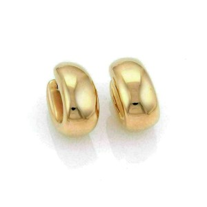 Roberto Coin Puffed 13mm Wide Oval 18k Rose Gold Hoop Earrings Rt. $2,950