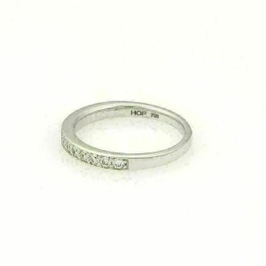 Hearts On Fire 0.40ct Diamond Wedding Band Ring in 18k White Gold Size 6.5