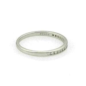 Tiffany & Co. Channel Set Diamond Half Circle Platinum 2.5mm Band Ring