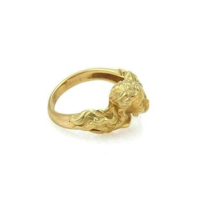Carrera y Carrera Diamond 18k Yellow Gold Woman Head Ring