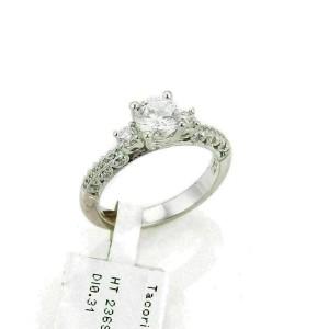 Tacori Diamond Platinum Mounting Only w/Accent Milgrain Rt. $4,240