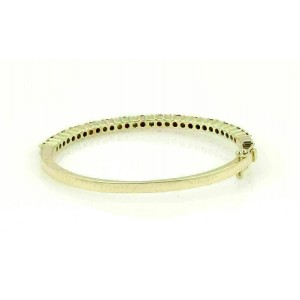 Diamond & Rubies 14k Yellow Gold Oval Shape Hinged Bangle Bracelet
